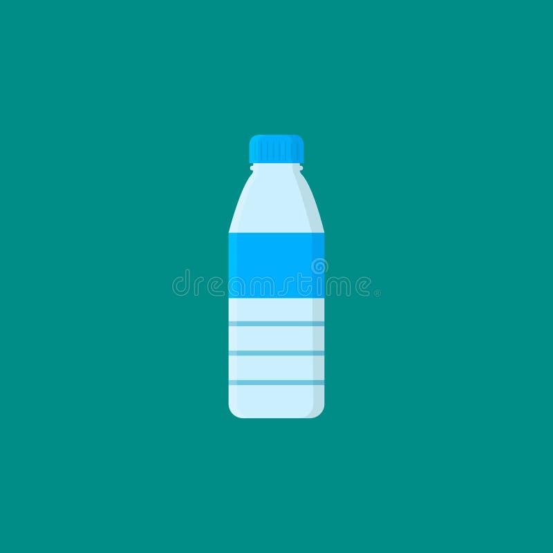 Botella con agua stock de ilustración