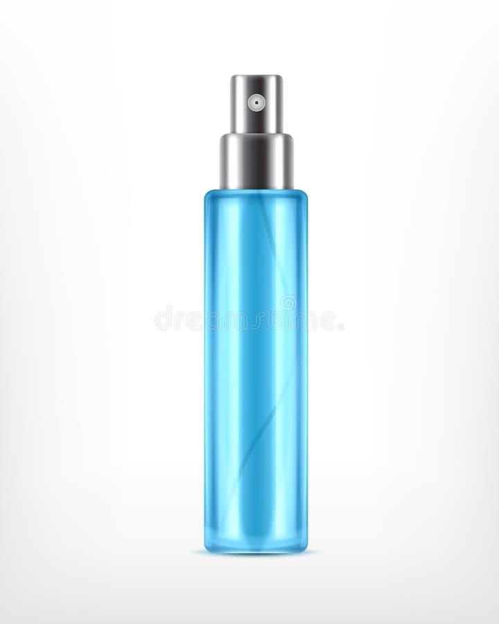 Botella cosmética del espray de Realictic ilustración del vector