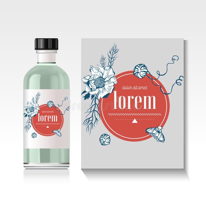 Botella de aceite esencial realista Mofa para arriba libre illustration
