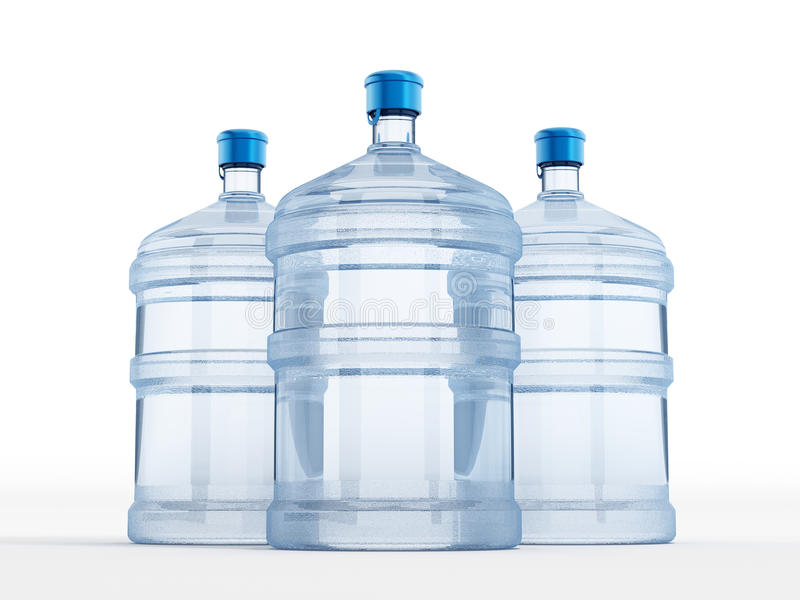 Botella de agua stock de ilustración