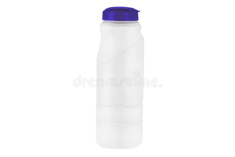 Botella de agua aislada en el fondo blanco imagen de archivo libre de regalías