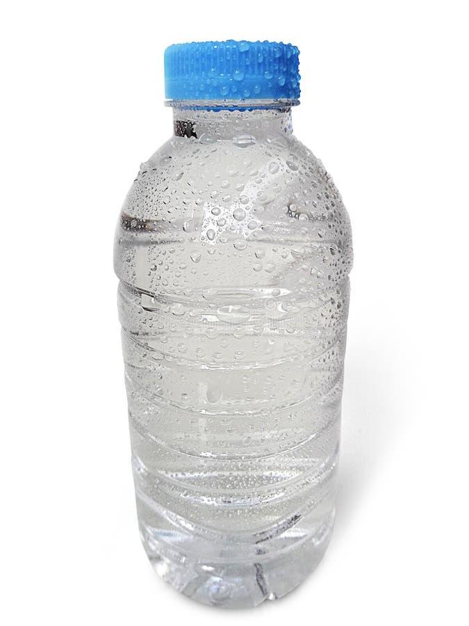 Botella de agua limpia y clara vacía aislada encendido con aislado en un fondo blanco fotografía de archivo libre de regalías