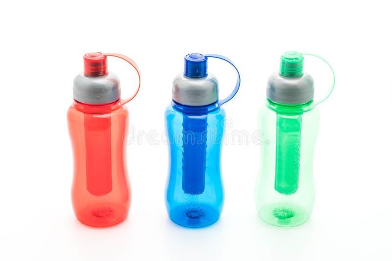 botella de agua o cantina plástica colorida fotografía de archivo libre de regalías