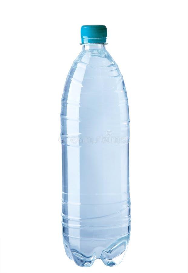Botella de agua plástica imagen de archivo libre de regalías