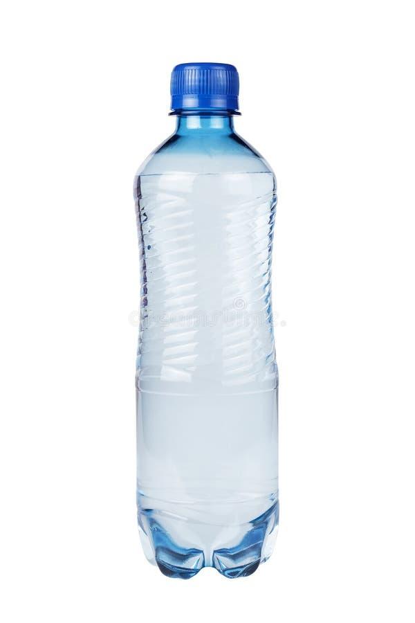 Botella de agua plástica aislada foto de archivo libre de regalías
