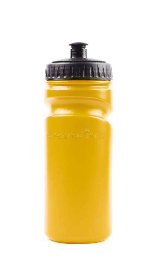 Botella de agua plástica del deporte aislada fotografía de archivo libre de regalías