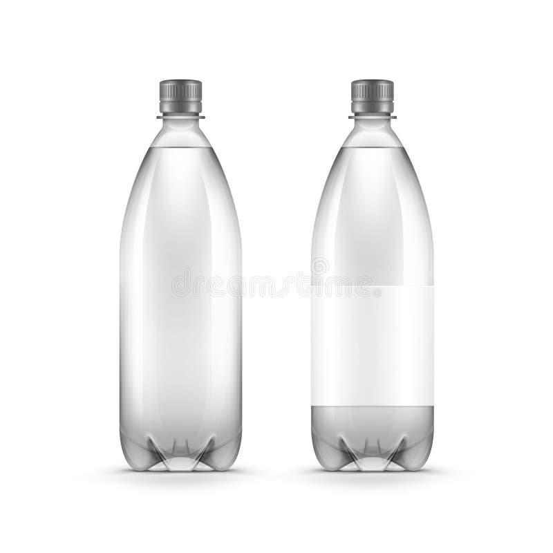 Botella de agua plástica en blanco del vector aislada libre illustration