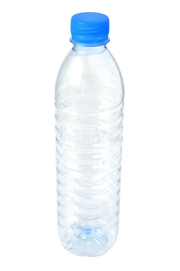 Botella de agua plástica vacía imagenes de archivo