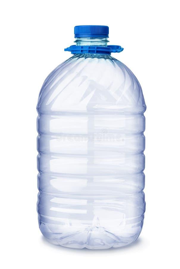 Botella de agua plástica vacía fotografía de archivo