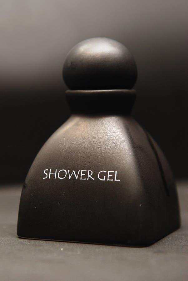 Botella de cerámica del gel de la ducha fotos de archivo