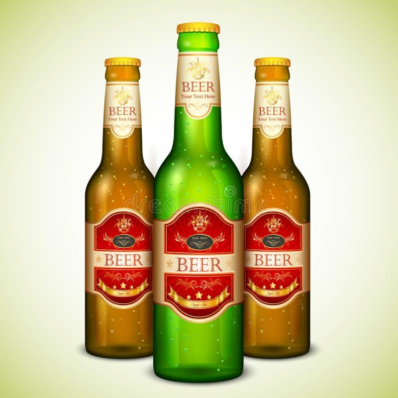 Botella de cerveza ilustración del vector