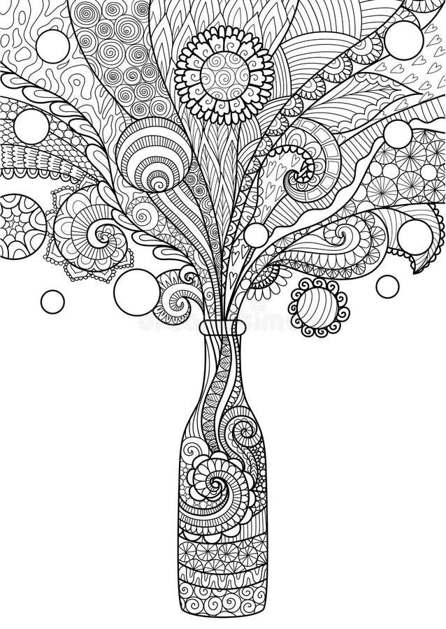 Botella de cerveza stock de ilustración