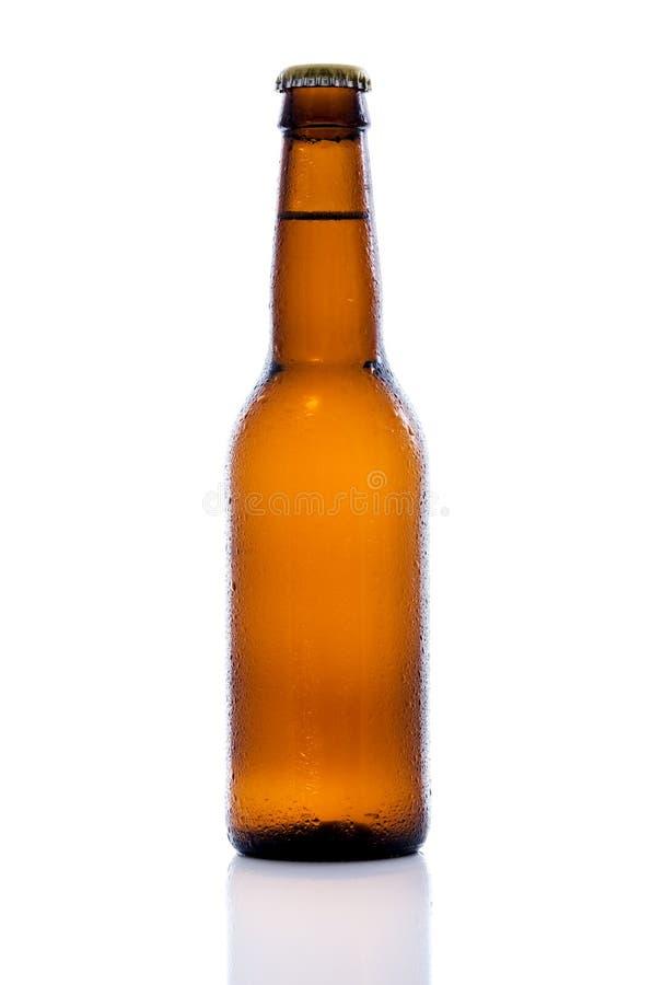 Botella de cerveza de Brown foto de archivo