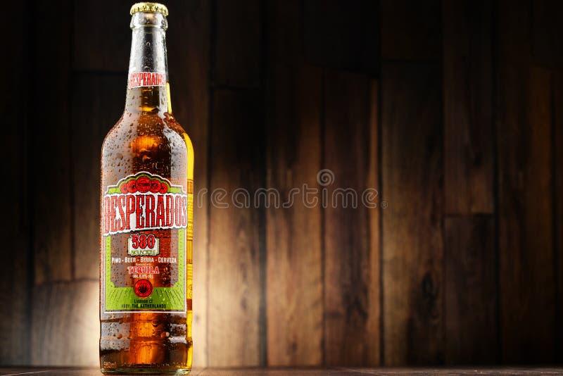 Botella de cerveza de los forajidos imágenes de archivo libres de regalías