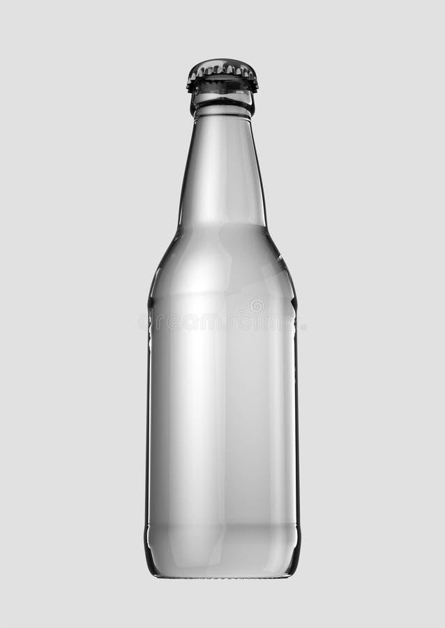 Botella de cerveza vacía ilustración del vector