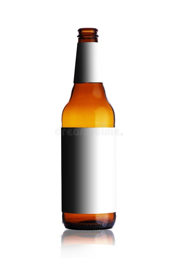 Botella de cerveza vacía sin etiquetas foto de archivo libre de regalías