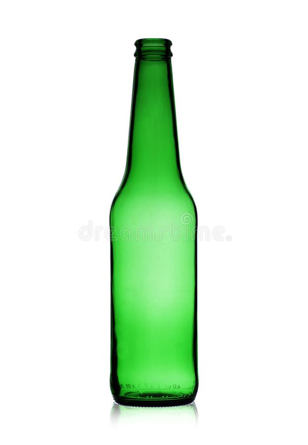 Botella de cerveza vac?a imágenes de archivo libres de regalías