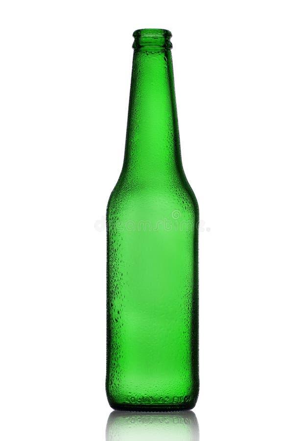 Botella de cerveza vac?a foto de archivo libre de regalías