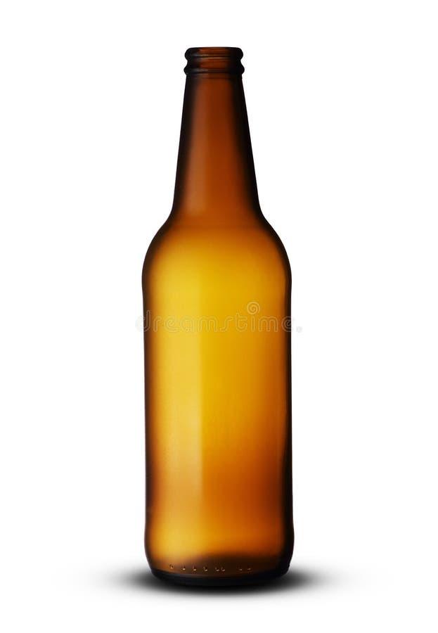 Botella de cerveza vac?a foto de archivo
