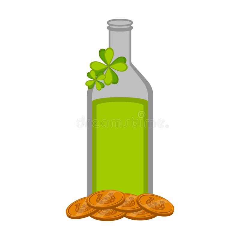Botella de cerveza verde aislada libre illustration