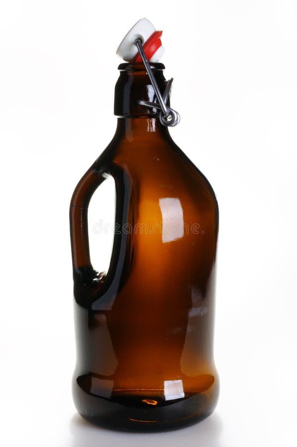 Botella de cerveza vieja fotografía de archivo libre de regalías