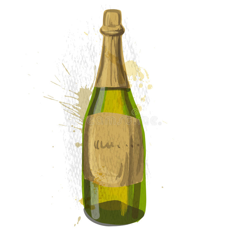 Botella de champán libre illustration
