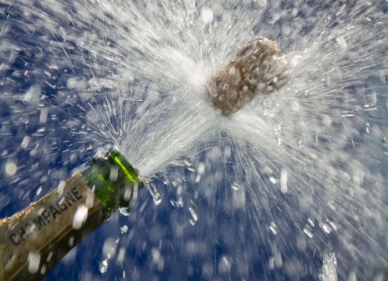 Botella de Champán imagen de archivo libre de regalías