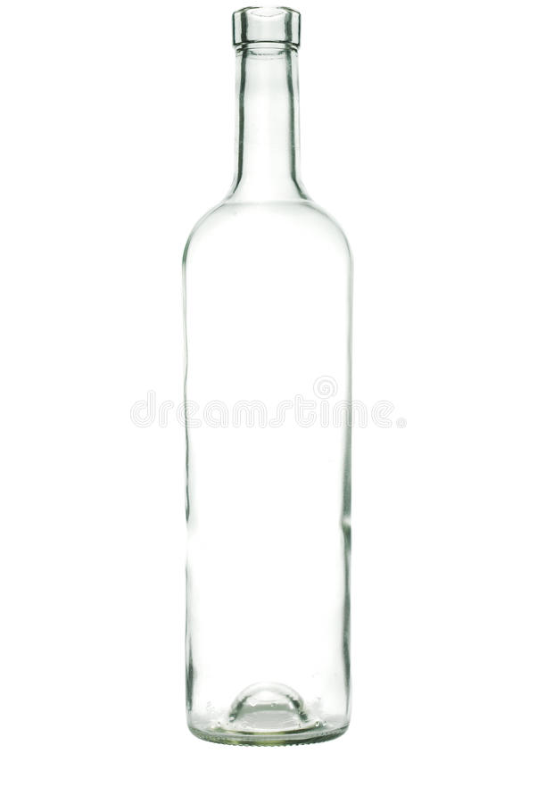 Botella de cristal imagen de archivo