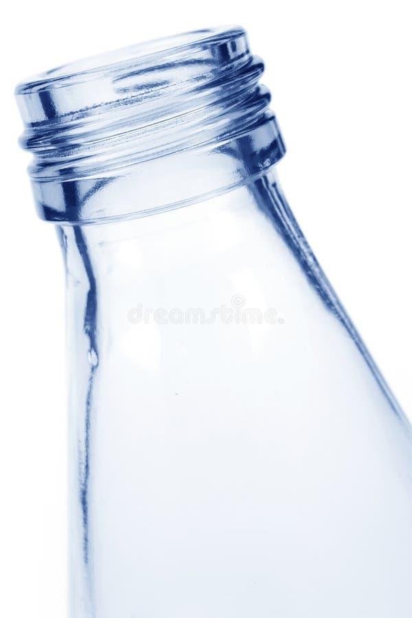 Botella de cristal azul fotos de archivo