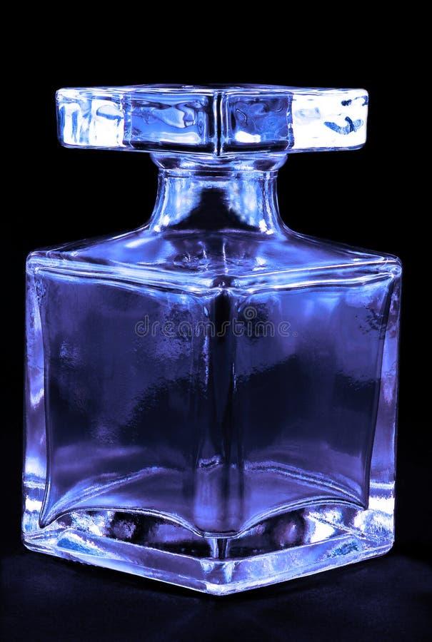 Botella de cristal coloreada foto de archivo libre de regalías