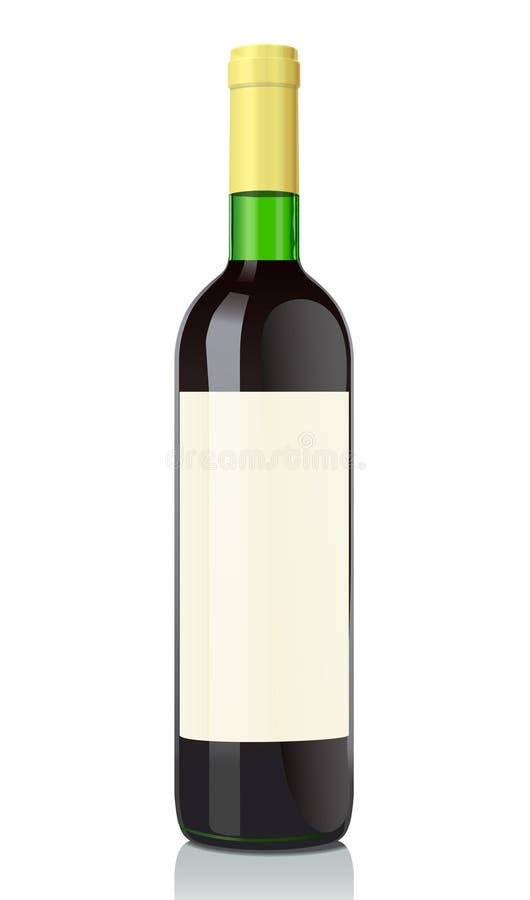 Botella de cristal con el vino rojo libre illustration