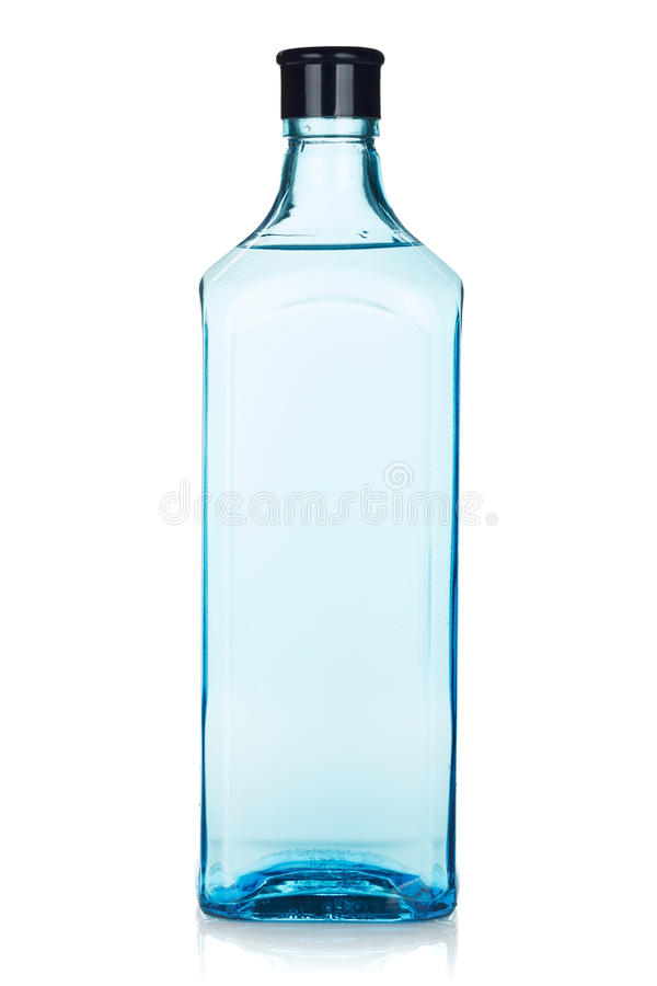 Botella de cristal de la ginebra imagen de archivo