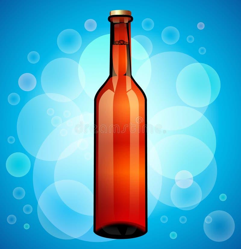 Botella de cristal del marr?n de la cerveza Aliste para su dise?o Embalaje del producto libre illustration