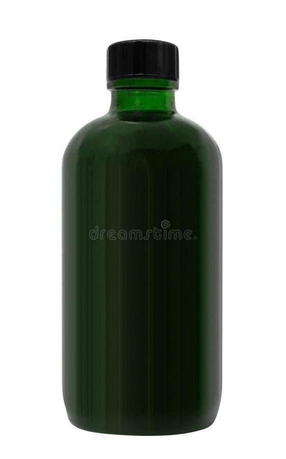 Botella de cristal médica en un blanco fotos de archivo
