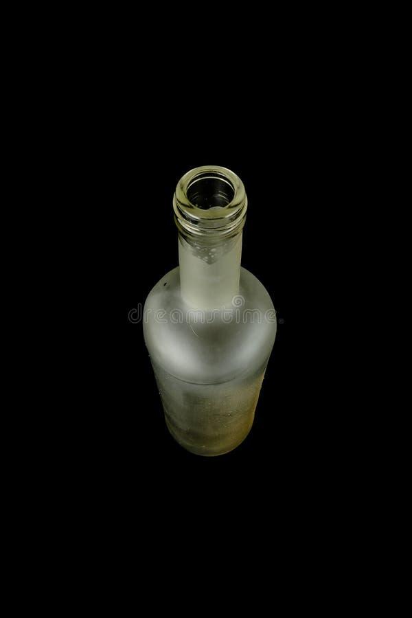 Botella de cristal vacía imagen de archivo