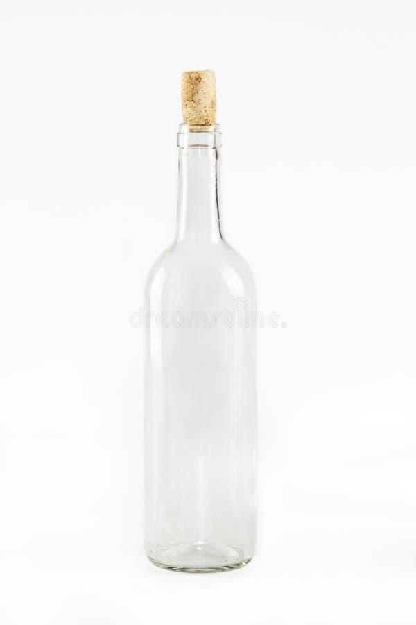 Botella de cristal vacía fotos de archivo
