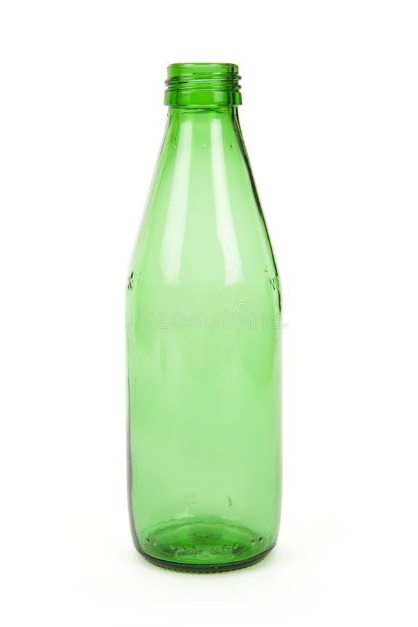 Botella de cristal verde foto de archivo libre de regalías