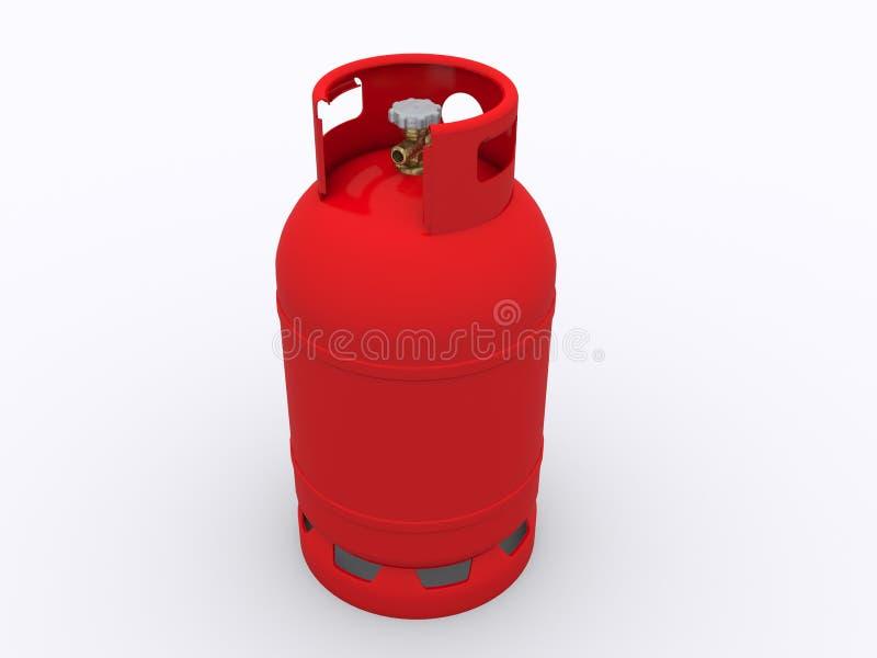 Botella de gas fotografía de archivo libre de regalías