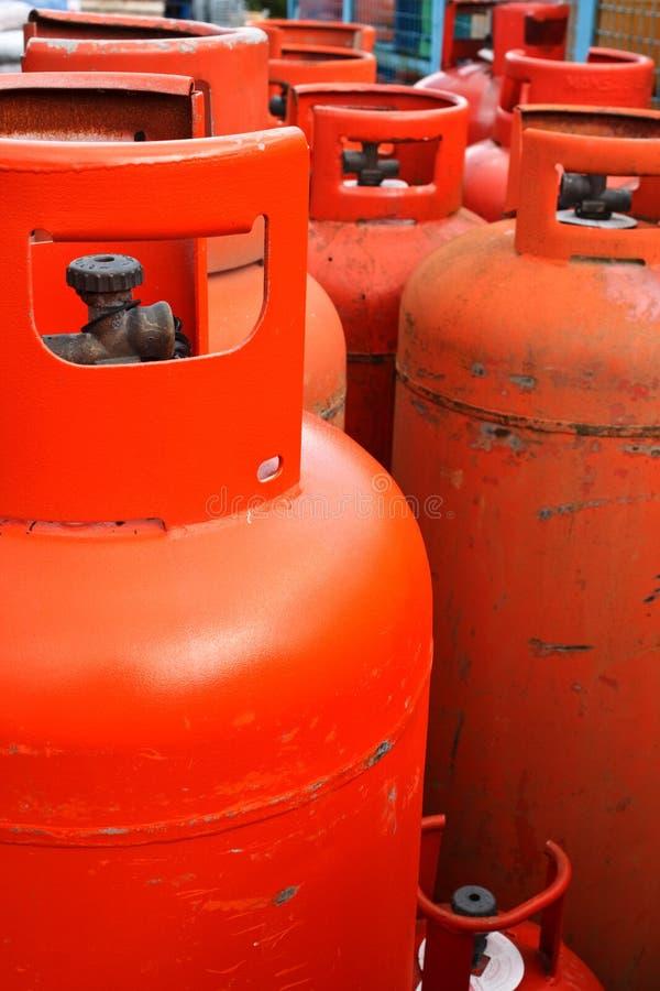 Botella de gas doméstica del propano fotografía de archivo
