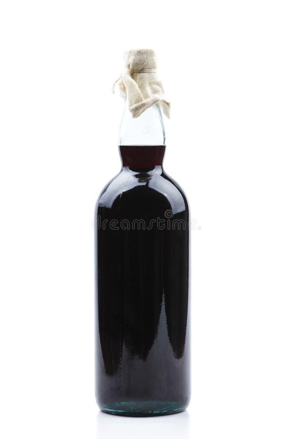 Botella de jarabe de la frambuesa fotografía de archivo libre de regalías