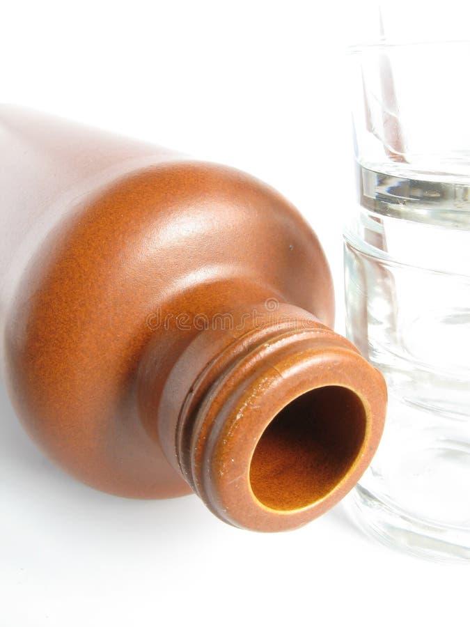 Botella de la arcilla fotografía de archivo
