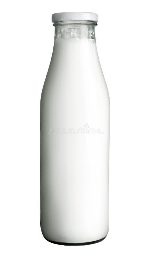 Botella de leche fotos de archivo