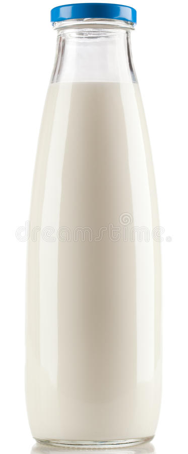 Botella de leche foto de archivo libre de regalías