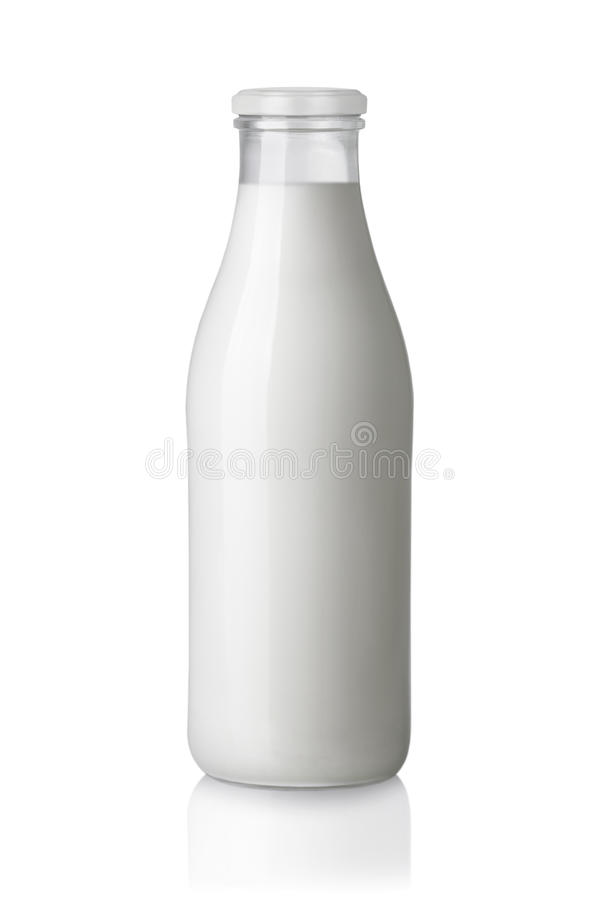 Botella de leche imagen de archivo libre de regalías