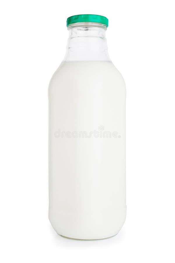 Botella de leche fotografía de archivo libre de regalías