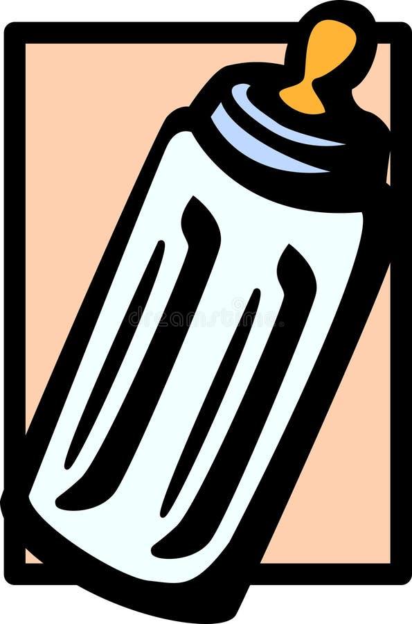 Botella de leche del bebé stock de ilustración