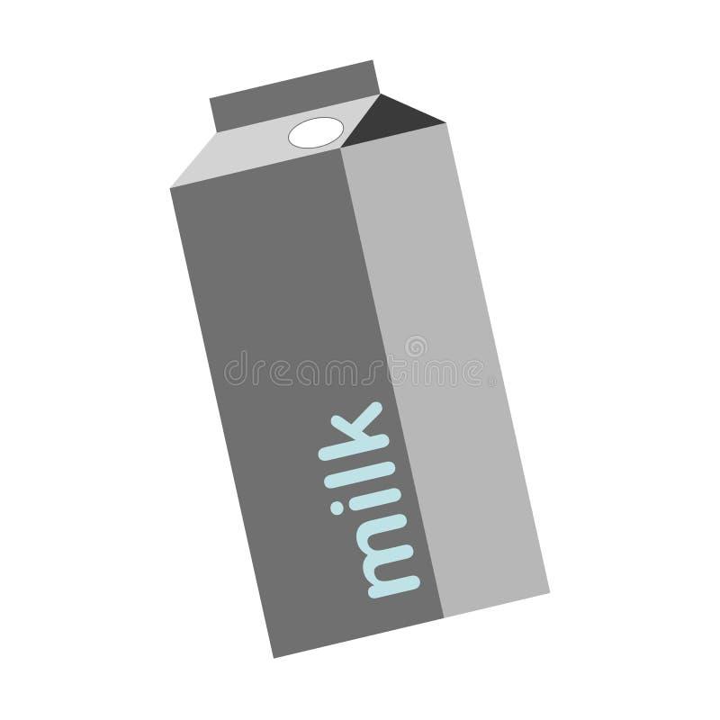 Botella de leche - ejemplo del vector - aislada en blanco ilustración del vector
