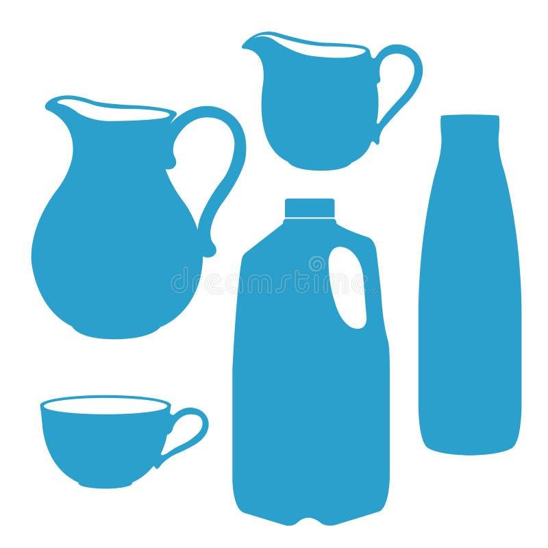 Botella de leche, jarra, jarro, bote libre illustration