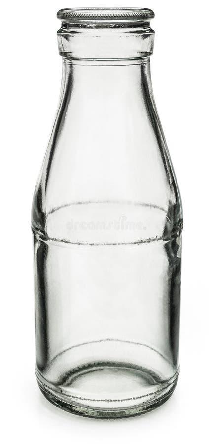 Botella de leche vacía fotografía de archivo libre de regalías