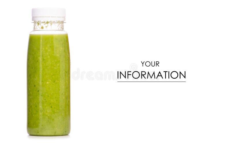 Botella de modelo verde de los smoothies imagen de archivo libre de regalías